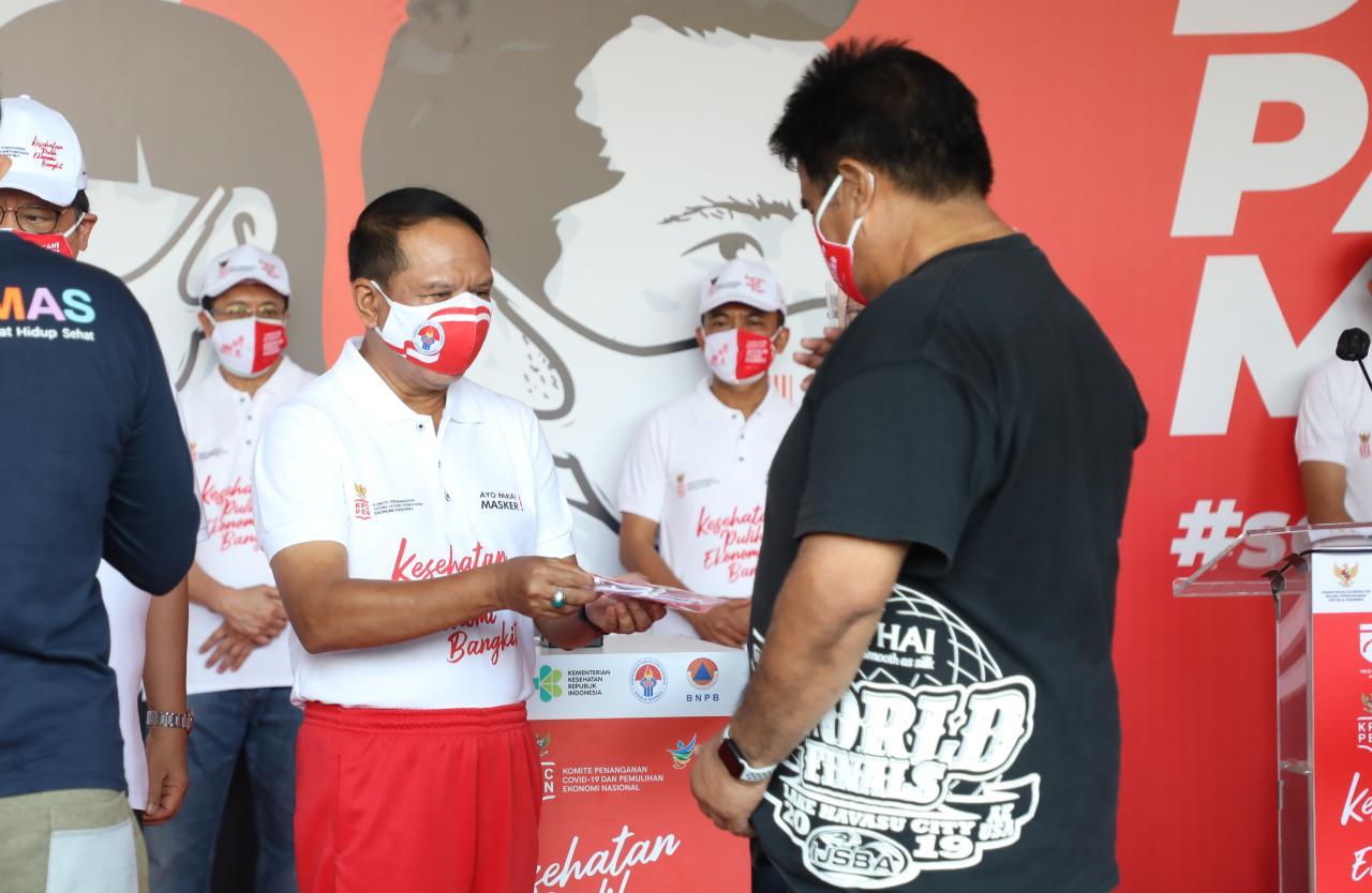 Menpora RI Hadiri Kampanye Nasional Gerakan Pakai Masker