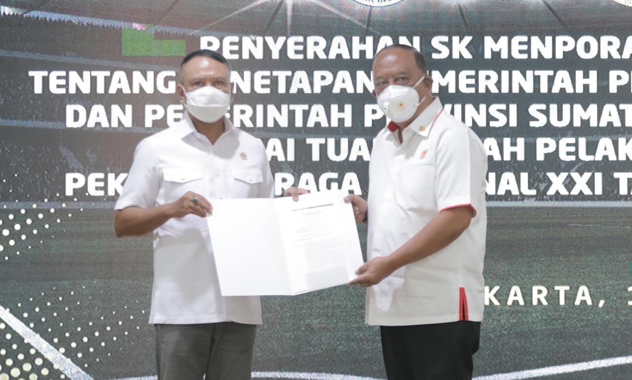 Tetapkan Aceh dan Sumut Tuan Rumah PON XXI Tahun 2024, Menpora RI: Ini Sejarah Pertama, Saya Minta Tingkatkan Sinergisitas