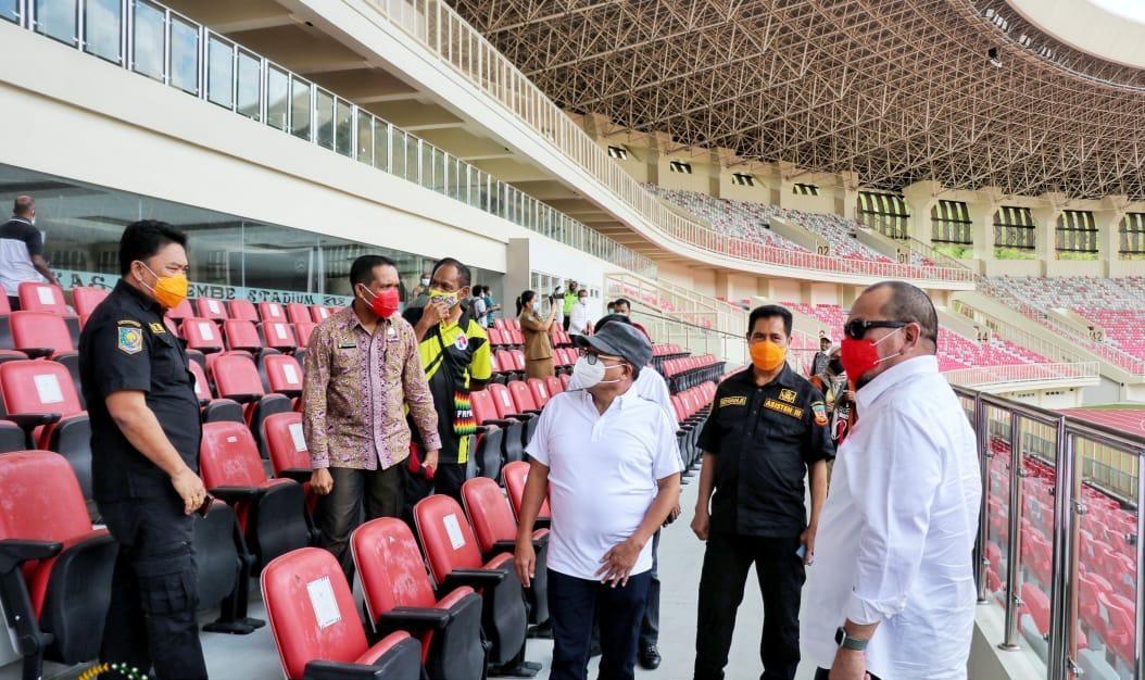 Dampingi DPD RI Tinjau Venue PON, Kemenpora RI : Saatnya Olahraga Papua dan Nasional Bangkit