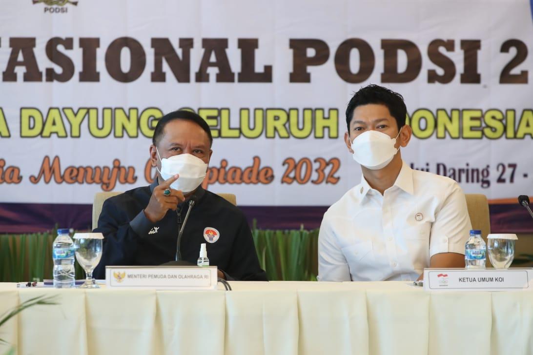 Ucapkan Terimakasih ke Menpora Amali, Ketum NOC Indonesia: Vaksinasi Atlet sebagai Momentum Menuju Olimpiade Tokyo 2021
