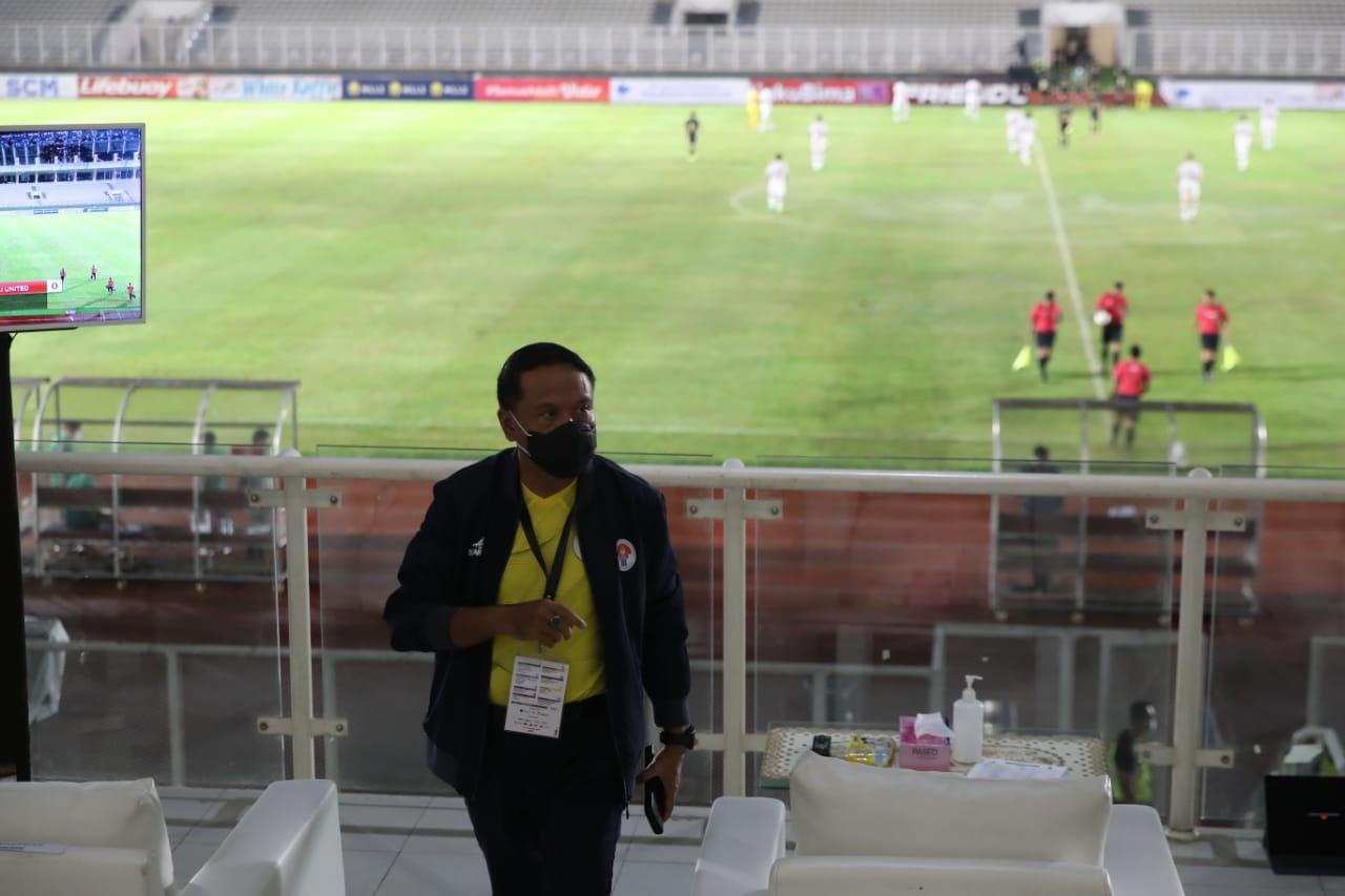 Menpora Amali Tonton Laga Timnas U-23 vs Bali United untuk Pastikan Semua Berjalan Sesuai Protokol Kesehatan