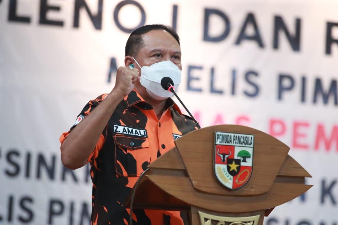 Ini Pesan Menpora Amali saat Memberikan  Sambutan dalam Rakor MPN Ormas Pemuda Pancasila