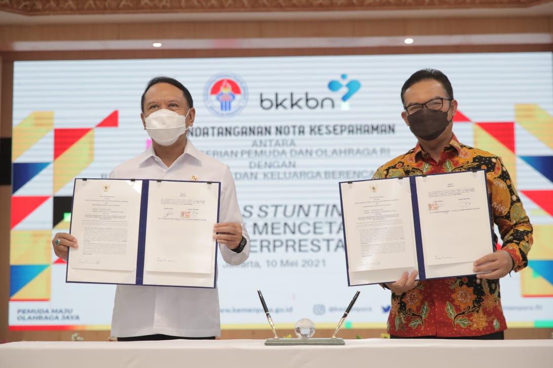 MoU dengan BKKBN, Menpora Amali Ingin Indonesia Bebas Stunting untuk Membentuk SDM Unggul dan Mencetak Atlet Berprestasi