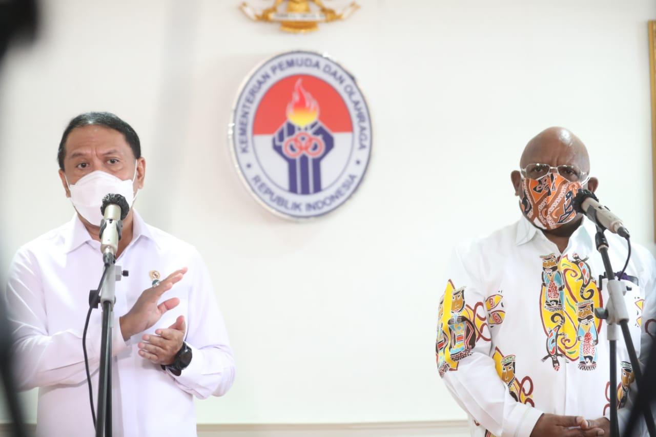 Wagub Papua Sebut Dua Pertiga Masyarakat Sekitar Venue Akan Divaksin, Menpora Amali Optimis PON di Papua Sukses