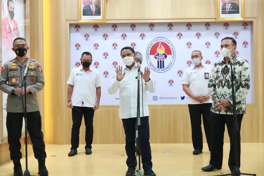 Upayakan Izin Kompetisi Liga 1 dan 2, Menpora Amali Tegaskan Kesehatan Masyarakat Tetap Diutamakan