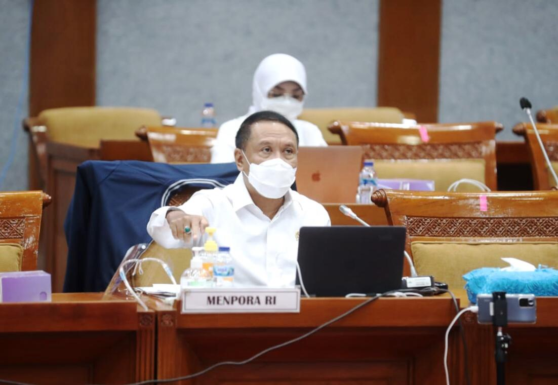 Raker dengan Komisi X, Menpora Amali Paparkan RKAK/L dan RKP Kemenpora Tahun 2022