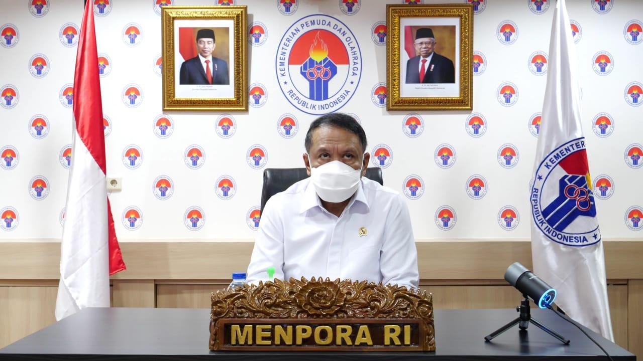 Menpora Amali Bersama Wapres Ma'ruf Amin Hadiri Peringatan HANI 2021