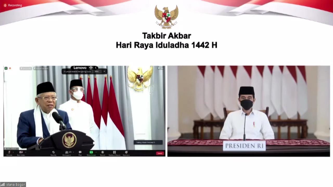 Menpora Amali Ikut Dampingi Presiden Jokowi Hadiri Takbir Akbar Virtual Hari Raya Idul Adha 1442 H