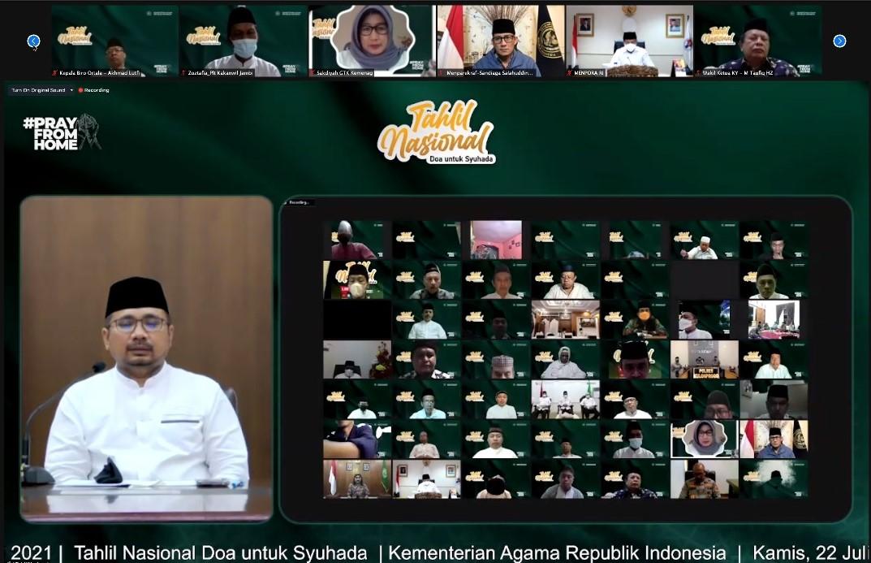Menpora Amali Ikuti Tahlil Nasional Bersama Para Menteri dan Tokoh Agama