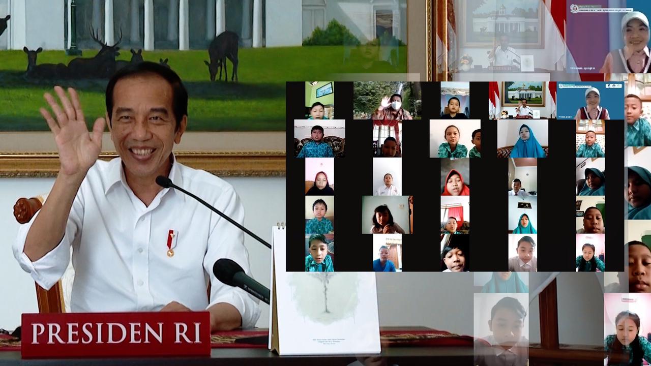 Di Peringatan Hari Anak Nasional 2021 Presiden Jokowi Ingin Anak Indonesia Terus Semangat Belajar di Tengah Pandemi Covid-19