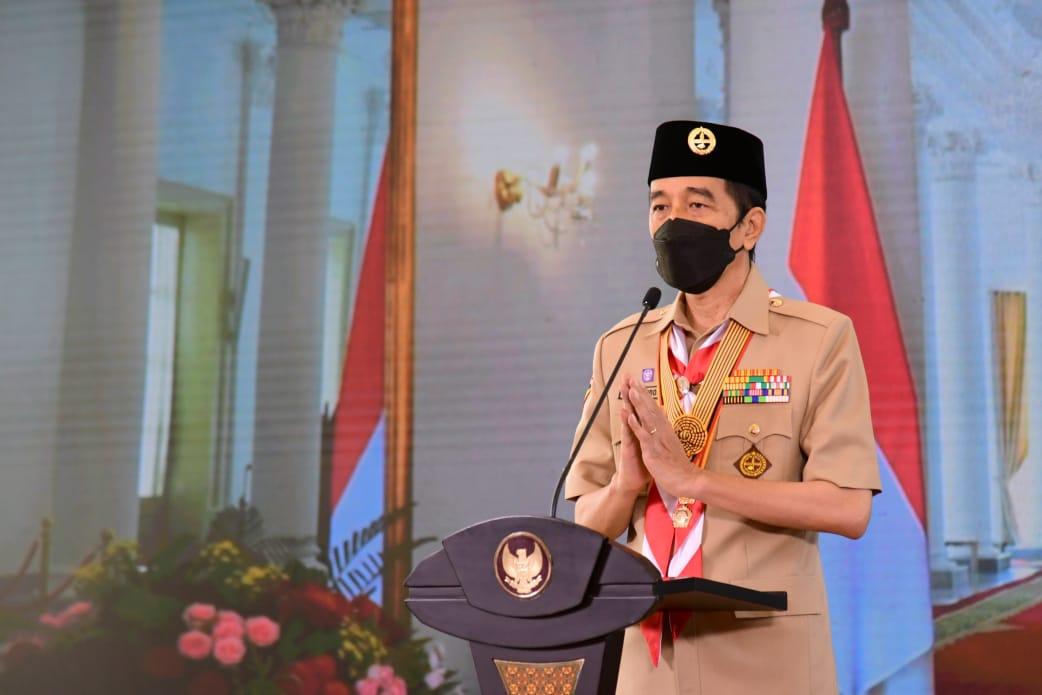 Presiden Jokowi Ingin Pramuka Indonesia Harus Optimis Melihat Masa Depan
