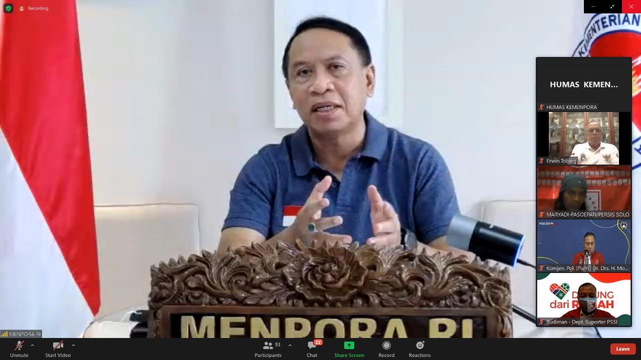 Menpora Amali Minta Seluruh Elemen Masyarakat Sepakbola Indonesia Nonton Liga 1 dan Liga 2 dari Rumah