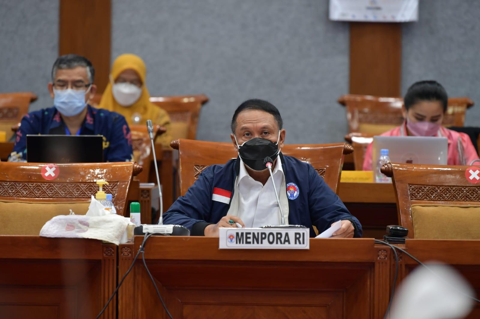 Komisi X DPR RI Setujui Pagu Anggaran Sementara Kemenpora Tahun Anggaran 2022