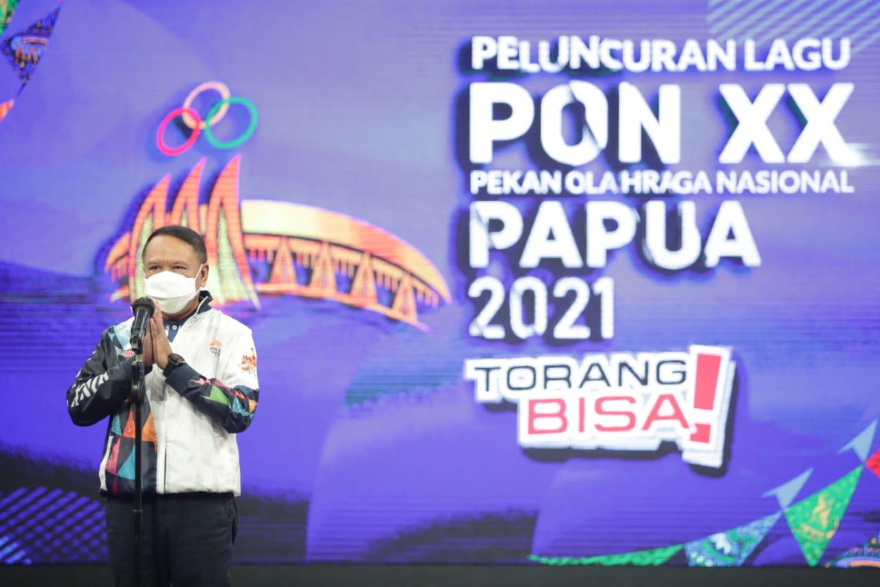 Lagu PON XX Papua Diluncurkan, Menpora Amali Sebut Masyarakat Papua Siap Sambut Kontingen Seluruh Provinsi