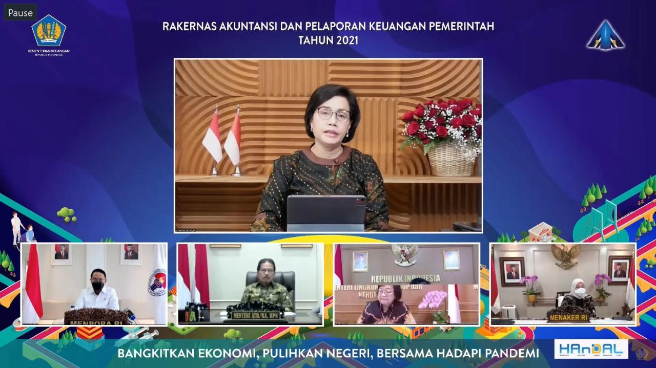 Menpora Amali Hadiri Rakernas Akuntansi dan Pelaporan Keuangan Pemerintah Tahun 2021
