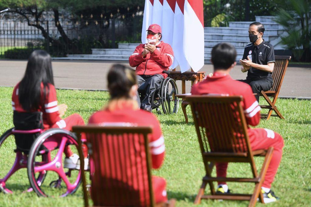 Presiden Jokowi Apresiasi Perjuangan dan Kerja Keras Atlet Difabel di Paralimpiade 2020