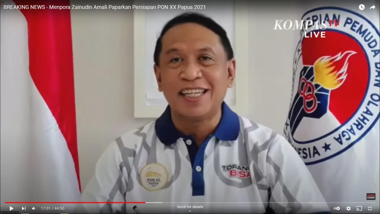 Menpora Amali Pastikan Semua Relawan PON XX Harus Sudah Divaksin dan Ikuti Prokes Ketat