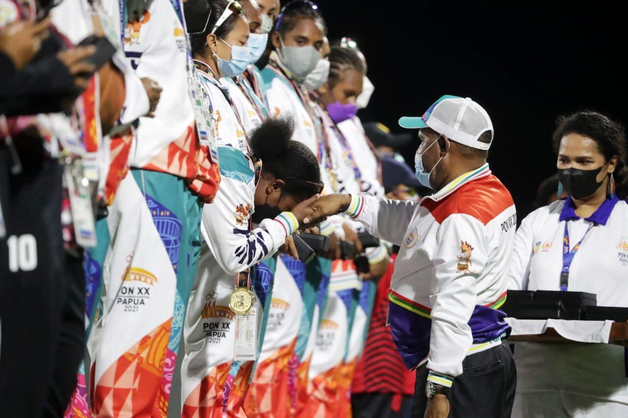 Tim Kriket Putri Papua Sukses Sumbangkan Medali Emas Pertama PON XX Papua